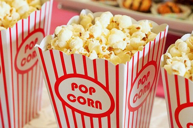 Pots de pop corn.