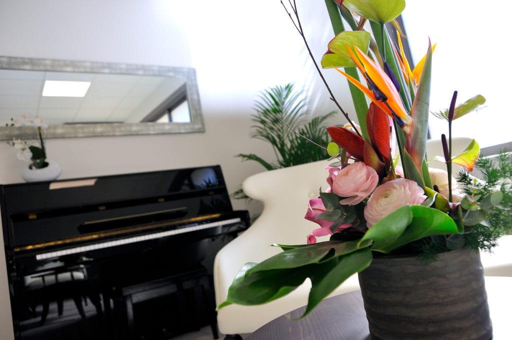 Le piano d'une maison de retraite Senectis.
