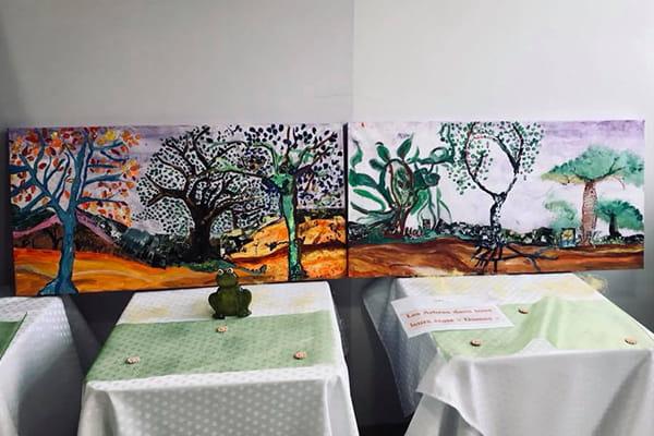 Peintures réalisées par des retraités.