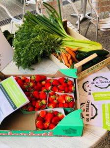Des cagettes de fruits et légumes livrées aux EHPAD du 06.