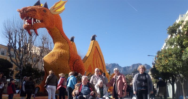 EHPAD du 06 se rend au carnaval de Menton.