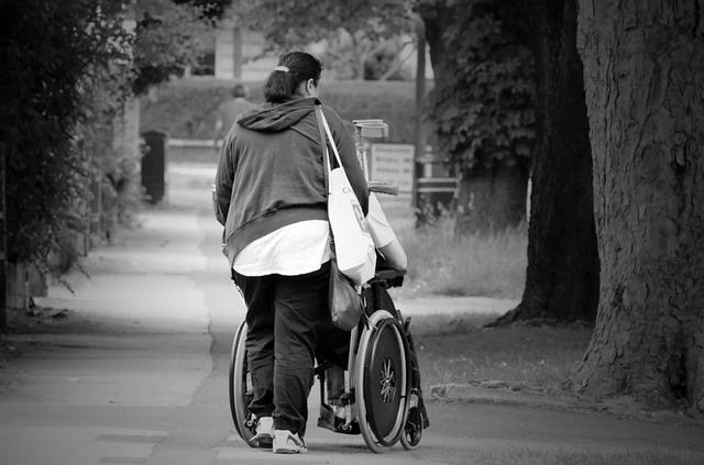 C'est une personne qui aide un personne handicapée.