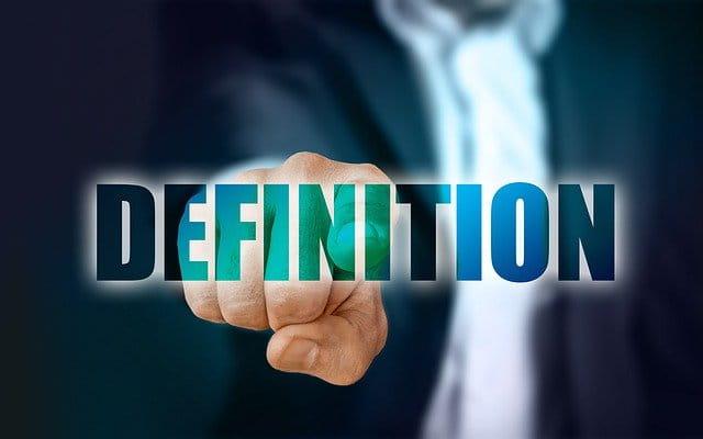 Illustration du mot définition.