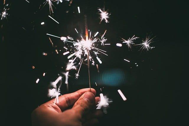 Bougie de Nouvel an.