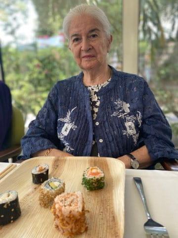 Menu japonais de maison de retraite.