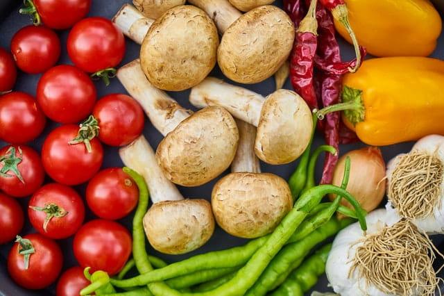 Légumes bons pour la santé.