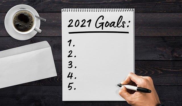 Liste de résolutions pour 2021.
