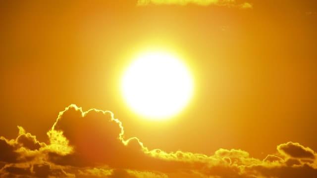 Photo d'un soleil couchant.