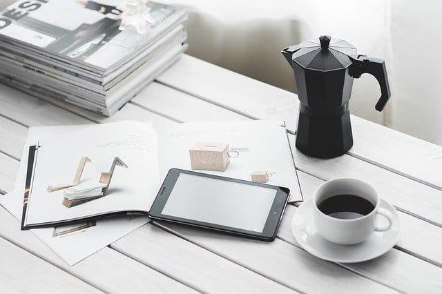 Objets connectés sur un bureau